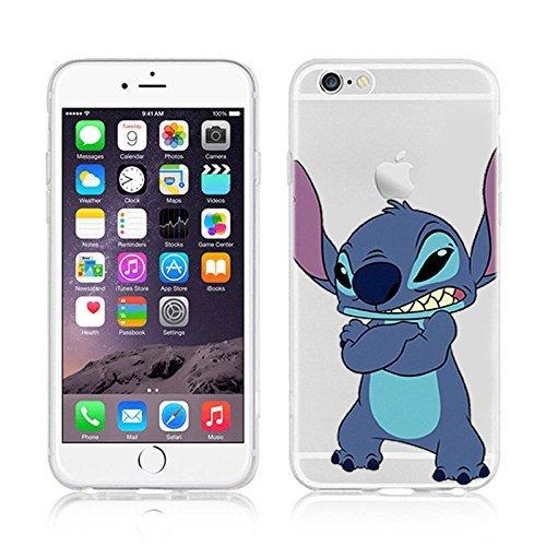 Disney dessins animés et super héros Transparent Coque souple en TPU pour Apple iPhone 5SE, plastique, STITCH, APPLE IPHONE 5SE
