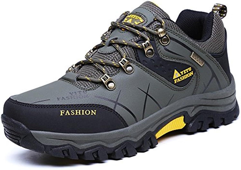 Eagsouni® Zapatillas de Senderismo y Trekking, Zapatos de Deporte y Aire Libre Impermeables Botas para Hombre  -