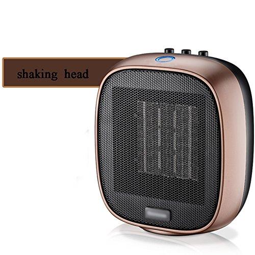 HAIZHEN Radiateur électrique Chauffage Chauffe-Céramique Noir Rose Or 1500W Grand Commotion Mini Bureau de Ménage Instantanée Économie d'énergie (Couleur : 4)