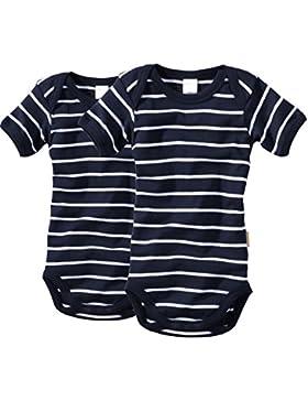 wellyou Baby und Kinder kurzarmbody/baby-body mädchen und junge aus 100% Baumwolle, kurzarm body in marine-blau...