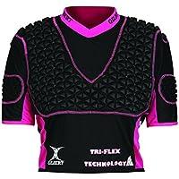 Gilbert Triflex XP3Armadura de Cuerpo de la Mujer, Mujer, Color Negro/Rosa, Tamaño X-Large