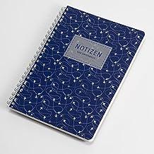 "Atlantikblau Notizbuch, Reisenotizbuch, Design ""Blue Sky"", edles Papier"