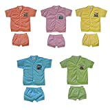 #6: Tirupur Fashion Biz New Printed Collection Fit For Born Baby Boys 5 Tops And 5 Matching Bottoms (Pack Of 5)