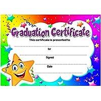 Certificado de graduación: A6, 20 unidades, ideal para guarderías, escuelas, clubes infantiles, 200 g/m², tarjetas de calidad brillante