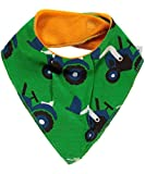 Maxomorra Baby Dribble Bib Triangle Tractor One Size