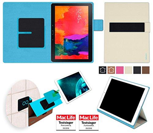 reboon Hülle für Samsung Galaxy TabPro 10.1 Tasche Cover Case Bumper | in Beige | Testsieger