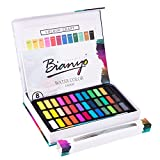#9: Bianyo Watercolor Paint Set - 36 Watercolors Field Sketch Set - Vibrant Colors - Professional Supplies - With Water Brush,8 Pieces Watercolor Paper by Bianyo