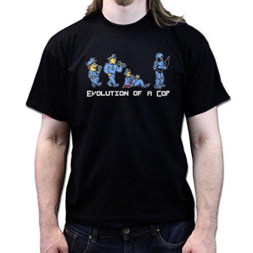 Evolution of a Robo Cop T-shirt Schwarz