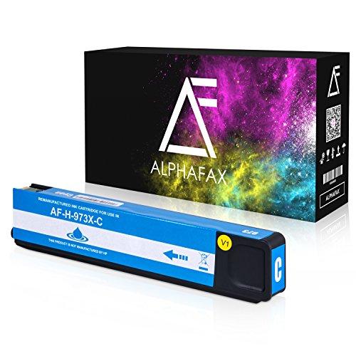 Alphafax Tintenpatrone kompatibel zu HP 973X für PageWide Pro 452dn 452dw 452dwt 477dn 477dw 477dwt 552dw 577dw 577z - Cyan -