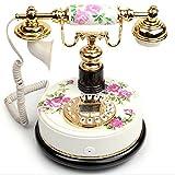 Power uk Flor de buen mes redondo teléfono China Retro Home Garden de moda teléfono fijo conectado fijo