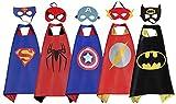 RioRand Cartoon Kostüm für Kinder verkleiden Sich mit Masken (5-Pack)