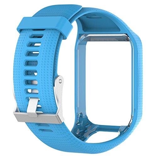 LDA GET Fresh Silikon-Ersatz-Armband Armband Armband für Tomtom Runner 2 3 Spark 3 GPS Watch-Blue -