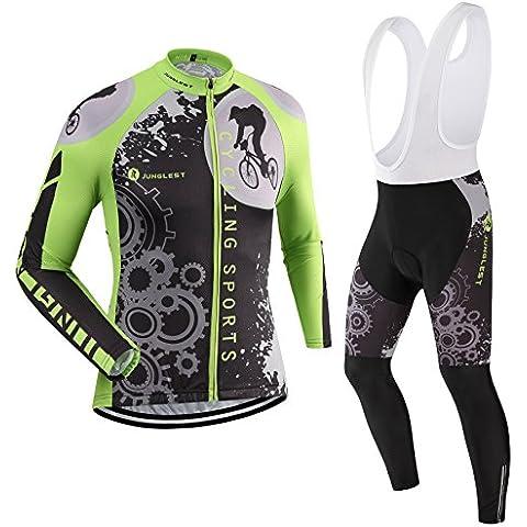 [Cojín 3D][traje[Forro polar & strap blancas] tamaño:L] rendimiento hombres ciclismo rompevientos chaleco los maillot ropa transpirable para larga Jerseys de