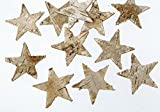 100 pezzi betula stelle colore Stelle betula corteccia decorazione natalizia autunno decorativo in legno di betulla con corteccia decorativo decorazione stelle corteccia stelle legno stelle