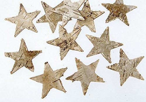 100PZ betulla nsterne Natura stelle corteccia di betulla ADDOBBI NATALIZI DECORAZIONE corteccia in legno di betulla autunno dekosterne corteccia nsterne legno stelle