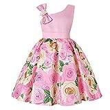 Kobay Babykleid Weihnachten Babykleidung Mädchen Winter Princess Brautjungfer Pageant Kleid Geburtstagsparty Brautkleid(5-6T,Rosa-1)