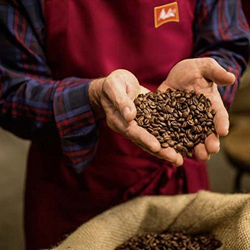 Melitta  Ganze Kaffeebohnen, 100 % Arabica, weiches Aroma mit Mango-Noten, mittlerer Röstgrad, Stärke 3, Melitta BellaCrema, Selection des Jahres 2019, 1kg