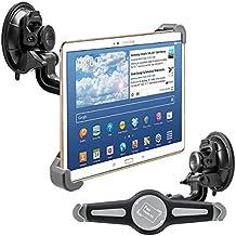"kwmobile Soporte de luna para 10"" Tablet PC - Soporte de coche con ventosa en negro - compatible por ej. con Apple, Samsung, Lenovo, Asus, Huawei, Amazon, Acer, Microsoft, Sony, LG"