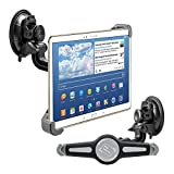 "kwmobile Soporte de coche para 10"" Tablet PC - Base antideslizante con ventosa negro para tablet"