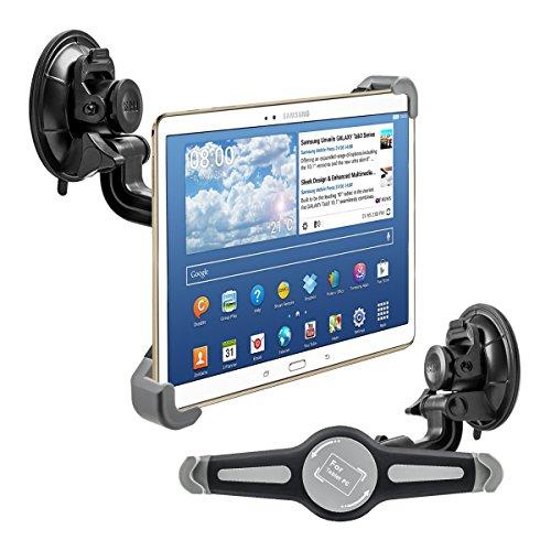"""kwmobile KFZ Scheiben Halterung für 10"""" Tablet PC - PKW Auto Halter mit Saugnapf in Schwarz - z.B. geeignet für Apple, Samsung, Lenovo, Asus, Huawei, Amazon, Acer, Microsoft, Sony, LG"""