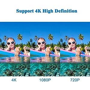 Campark ACT74 Cámara Deportiva 4k Wifi Ultra HD Resistente al agua Cámara de Acción Deportiva Temporizador y Grabación en Cámara Lenta Cámara de Casco Amplio Ángulo de Visión 170 Videocámara