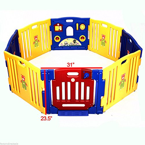infantsafe grande plástico bebé Parque de juegos interior y exterior.–fuerte, fácil de montar paneles de ranura en–sin fijaciones necesarias