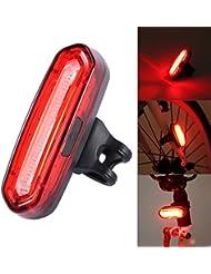 LED luces trasera USB recargable resistencia al agua 4 modos de red luz adaptable a bicicleta, cascos o mochilas, seguridad y advertencia