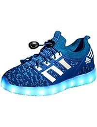 Yeeper Chaussures Enfants 7 Couleurs de LED Lumineuse USB Charge Chaussures de Sports Baskets pour Garçon et Fille