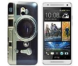 gada - Handyhülle für HTC One mini (M4) Schutzhülle Hardcase im stylischen Design - Fotoapparat Kamera Cam