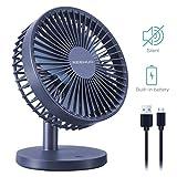Reenuo Mini USB Desktop Fan, Portble Small Silent Desk Fan for Home,Office,Bedroom,Dorm,Study