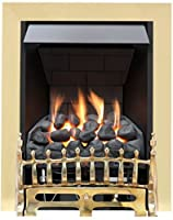 Broadly Slimline Radiant Top Control Gas Fire - Brass