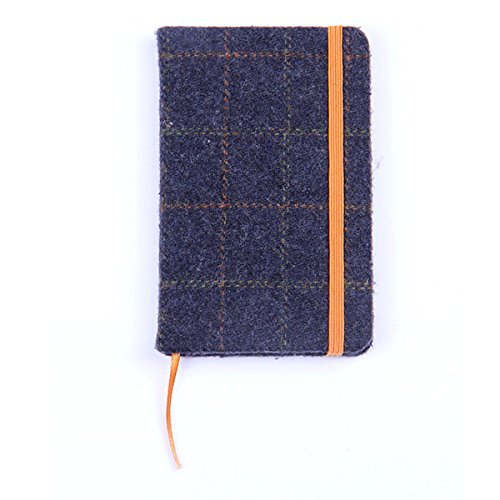 Heritage Traditions Blue Box Tweed Covered Lined Notebook (Tasche Notebook Heritage)