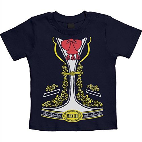 Junge Mariachi Kostüm (Kostüm für Kinder Marriachi Latino Sänger Unisex Baby T-Shirt Gr. 66-93 6-12 Monate / 76)