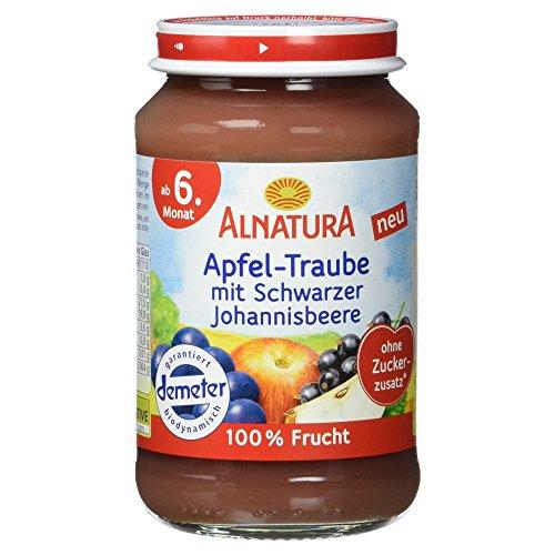 Alnatura Demeter Bio Apfel-Traube-Schwarze Johannisbeere, glutenfrei, 190 g