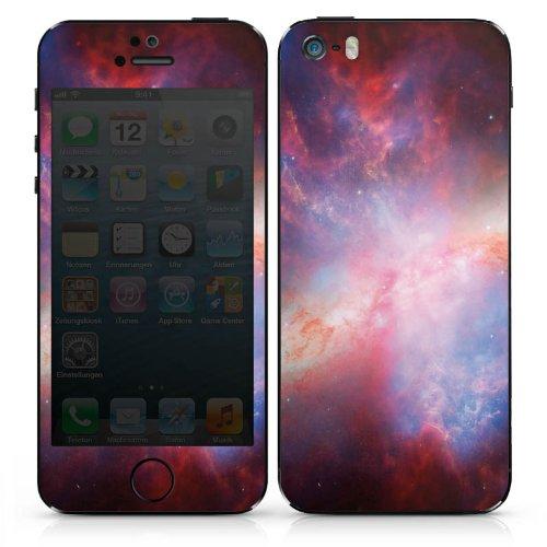 Apple iPhone 4s Case Skin Sticker aus Vinyl-Folie Aufkleber Galaxy Space Muster DesignSkins® glänzend