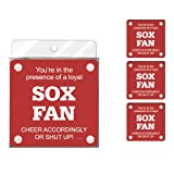 Tree-Free Greetings nc38080 SOX Baseball Fan 4er Pack Künstlerische Untersetzer Set