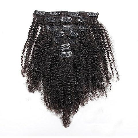 Malaysischer Kinky Lockiger Klipp in Den Haar-Verlängerungen Natürliches Haar 3B 3C Afroamerikanischer Klipp in Den Menschenhaar-Verlängerungen 120g 7Pcs/set Klipp Ins 100g