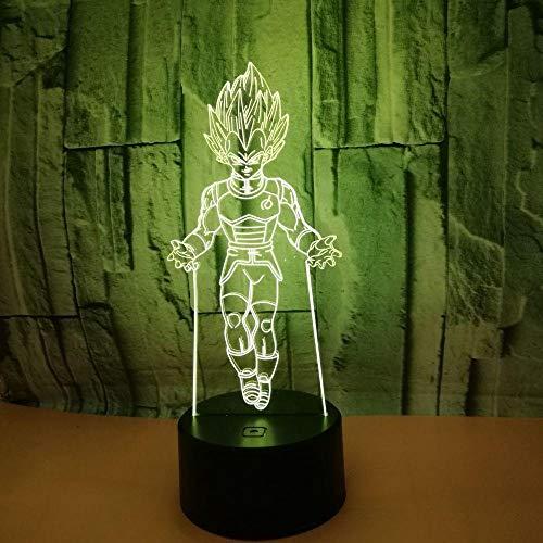Lampe 3D Führte Rgb-Nachtlicht, Karikatur-Bunte Tischlampen-Kind-Kinderjungen-Geschenk-Hauptdekor (G25-lampen)