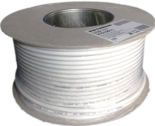 Lcd-koaxial-kabel (Kathrein LCD 111 Koaxialkabel 1,13/6,9 mm PVC 100 m Einwegspule weiß)