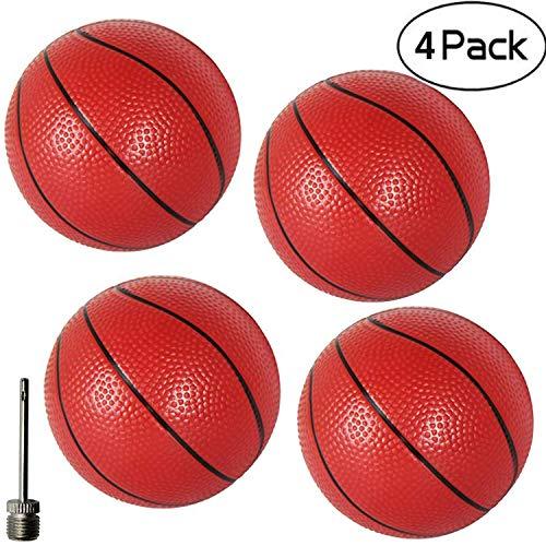 """Gamtec 4 PCS Tout-Petits / Enfants en Caoutchouc De Remplacement Baketball Mini Jouet Basketball en Plastique 6.29 """"Basket Balls pour Adultes Maison / Bureau (4PCS)"""