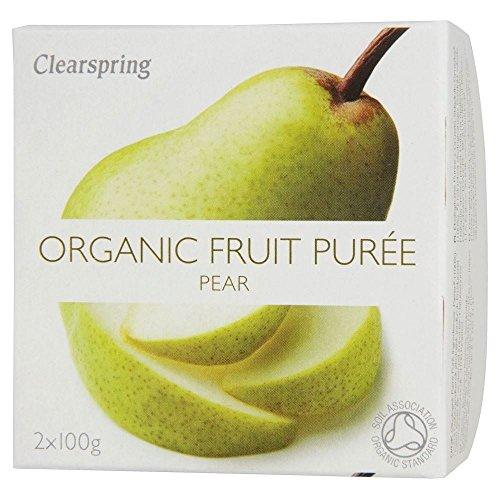 Clearspring bio Poire Purée de fruit Dessert (2x100g) - Paquet de 2