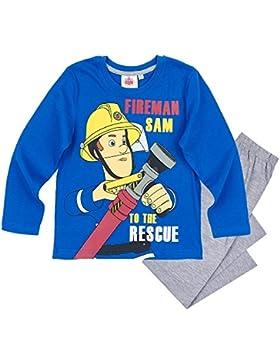 STOR S.L.. Sam El Bombero - Fireman Sam - Pijamas Niños Algodón - Tamaño 92-128