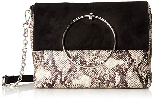 New Look - Snake Matilda, Bolsos de mano Mujer, Negro (Black Pattern), 8x19x23 cm (W x H L)