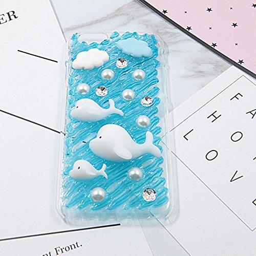 Make Your Own Special mobile phone case, DIY an iPhone case, 3D Ice Cream Fruit cake fai da te Cartoon copertura del telefono morbido TPU trasparente per Apple Green angle donuts Dolphin