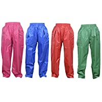 Dry Kids Childrens Waterproof Over Trousers. Boys and Girls Rainwear for Outdoor Play