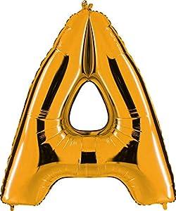 Grabo 202G-P Letra A globo Superloon paquete individual, largo-40 pulgadas, color, oro, talla única