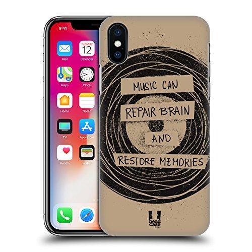 Head Case Designs Onda La Forza Della Musica Cover Retro Rigida per Apple iPhone X Vinile