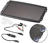 revolt Solarlader: Solar-Ladegerät für Auto-Batterien, 12 Volt, 2,4 Watt (Solar Ladegeräte für Autobatterien)