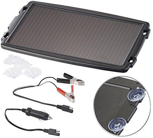 reVolt Solarlader: Solar-Ladegerät für Auto-Batterien, 12 Volt, 2,4 Watt (Solar Ladegeräte für Autobatterien) (Solar-12v-batterie-ladegerät)