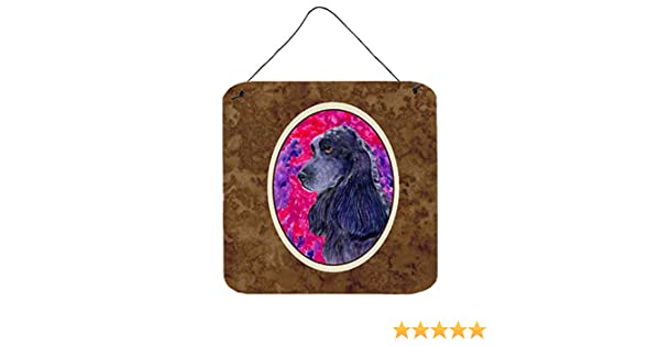 6 x 6 Multicolor Carolines Treasures SS8659DS66 Cocker Spaniel Aluminum Metal Wall or Door Hanging Prints